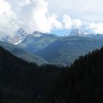 Blick zurück - Tinzenhorn und Piz Mitgel